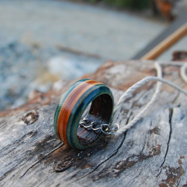 skateboard ring, recycled, skateboard, deck