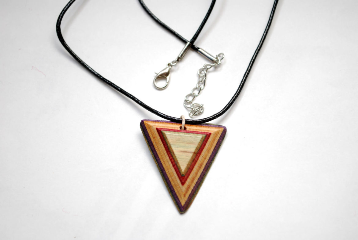 gifts for skaters, wood skateboard jewelry