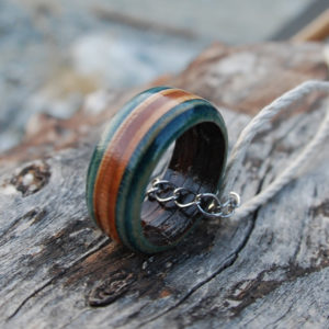 hemp necklace, skateboard, ring, skate, recycled