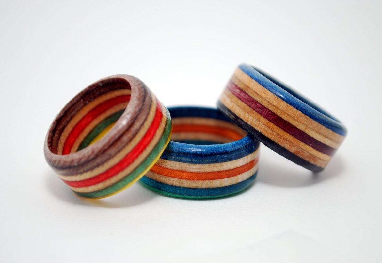skateboard ring, skate, recycled, jewelry, skater