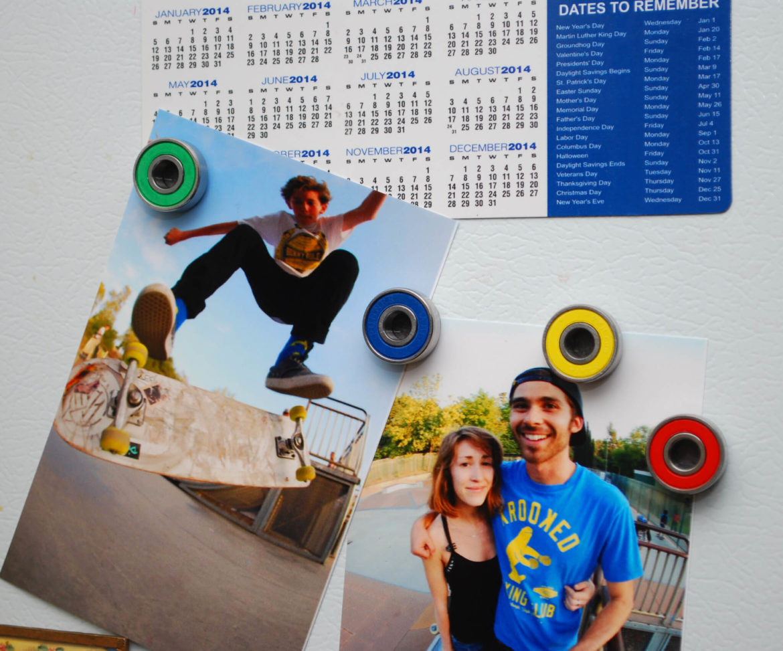 bearing magnets, skateboard, gift idea, roller derby