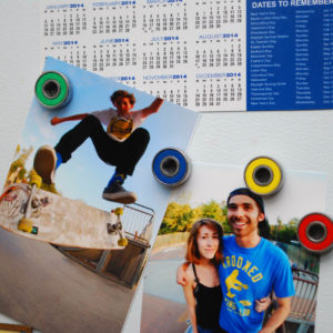 bearing magnets, skateboard, gift idea, roller derby