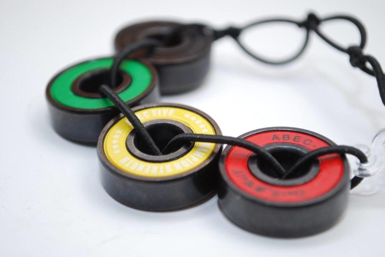 recycled skateboard, jewelry