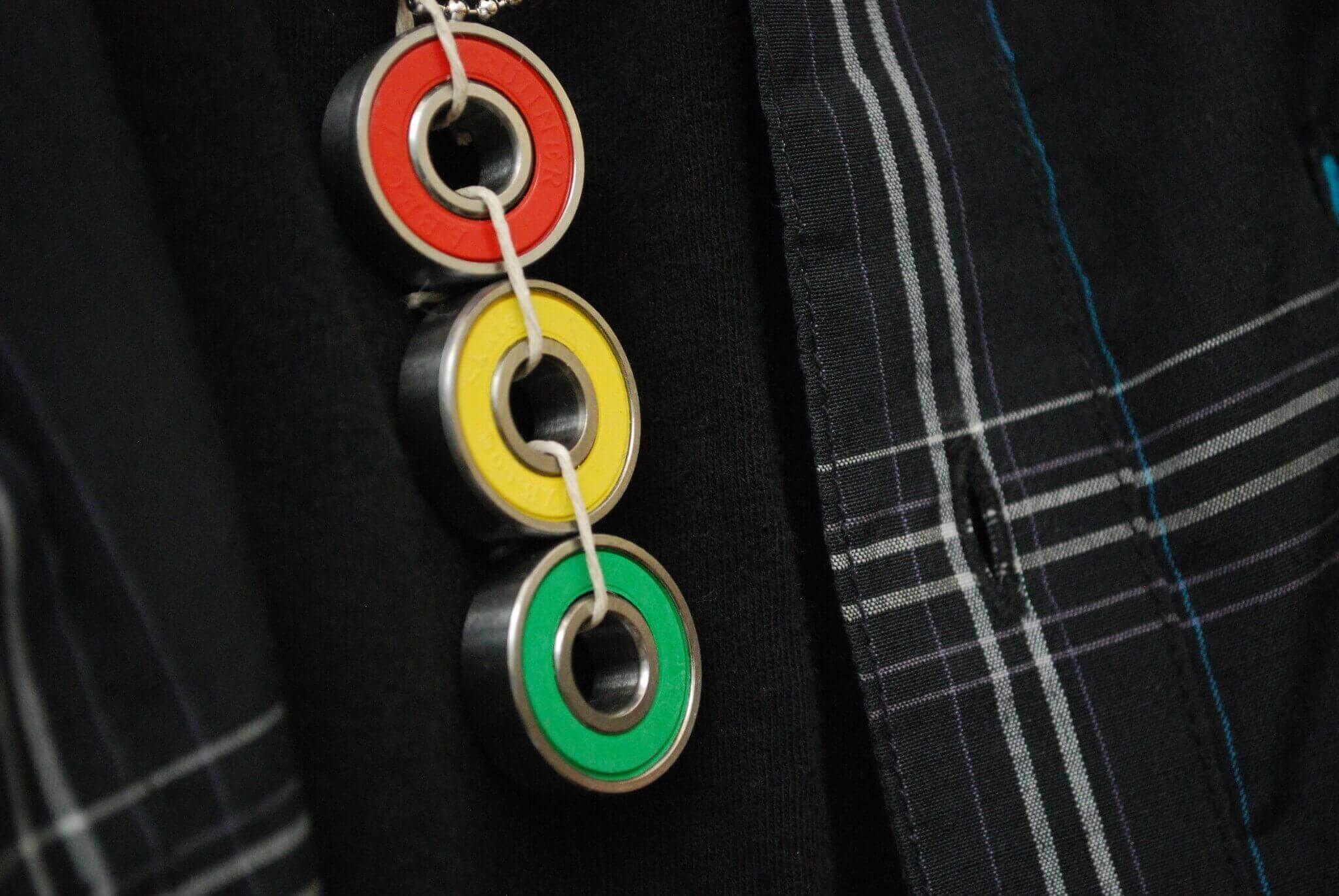 rasta, jewelry, derby skater, necklace
