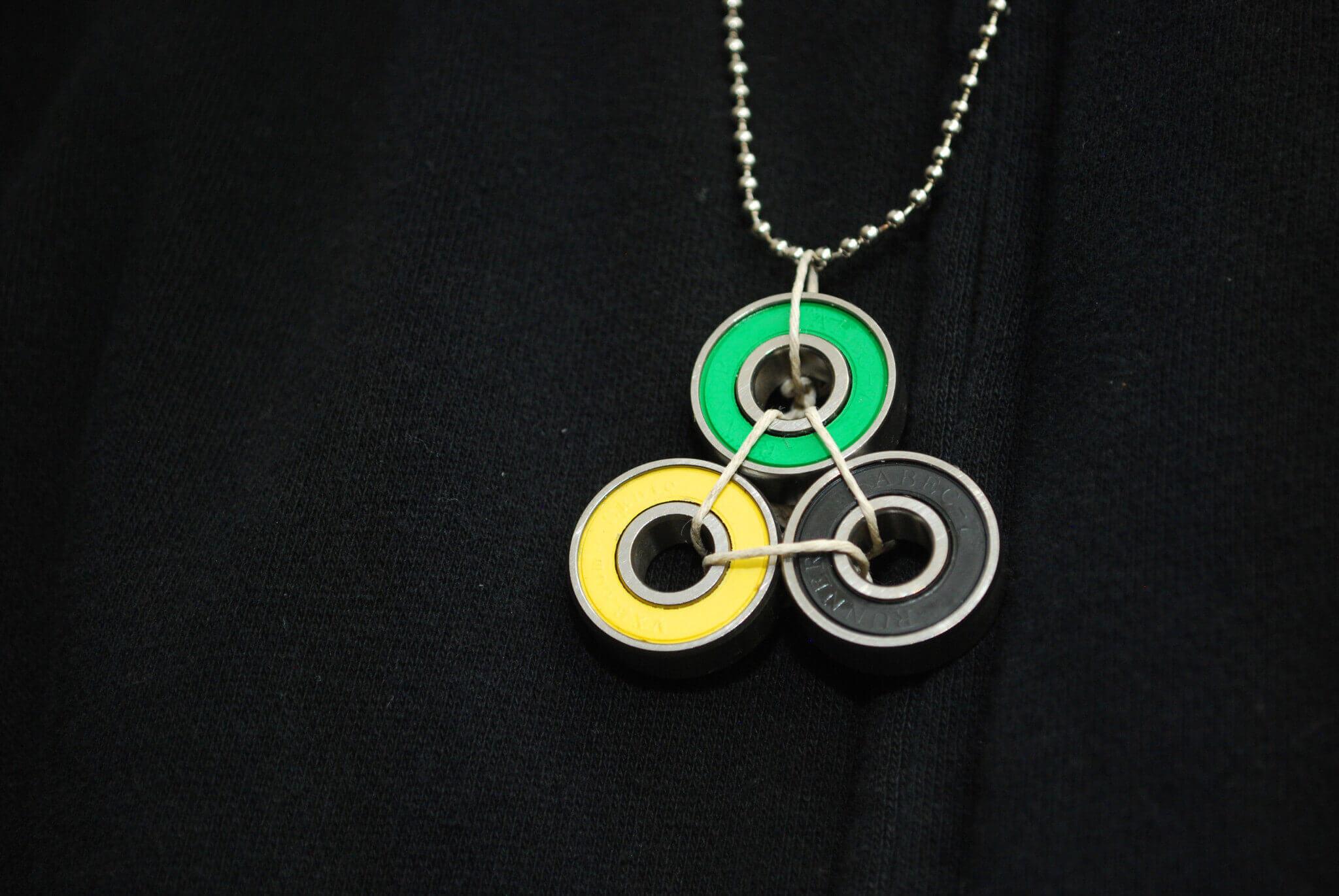 roller, derby, jewelry, skateboard, recycled