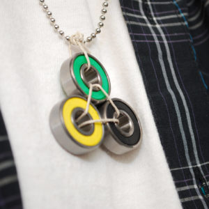 roller derby jewelry, skateboarder gift