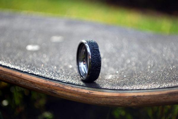 made from, broken skateboards, jewelry