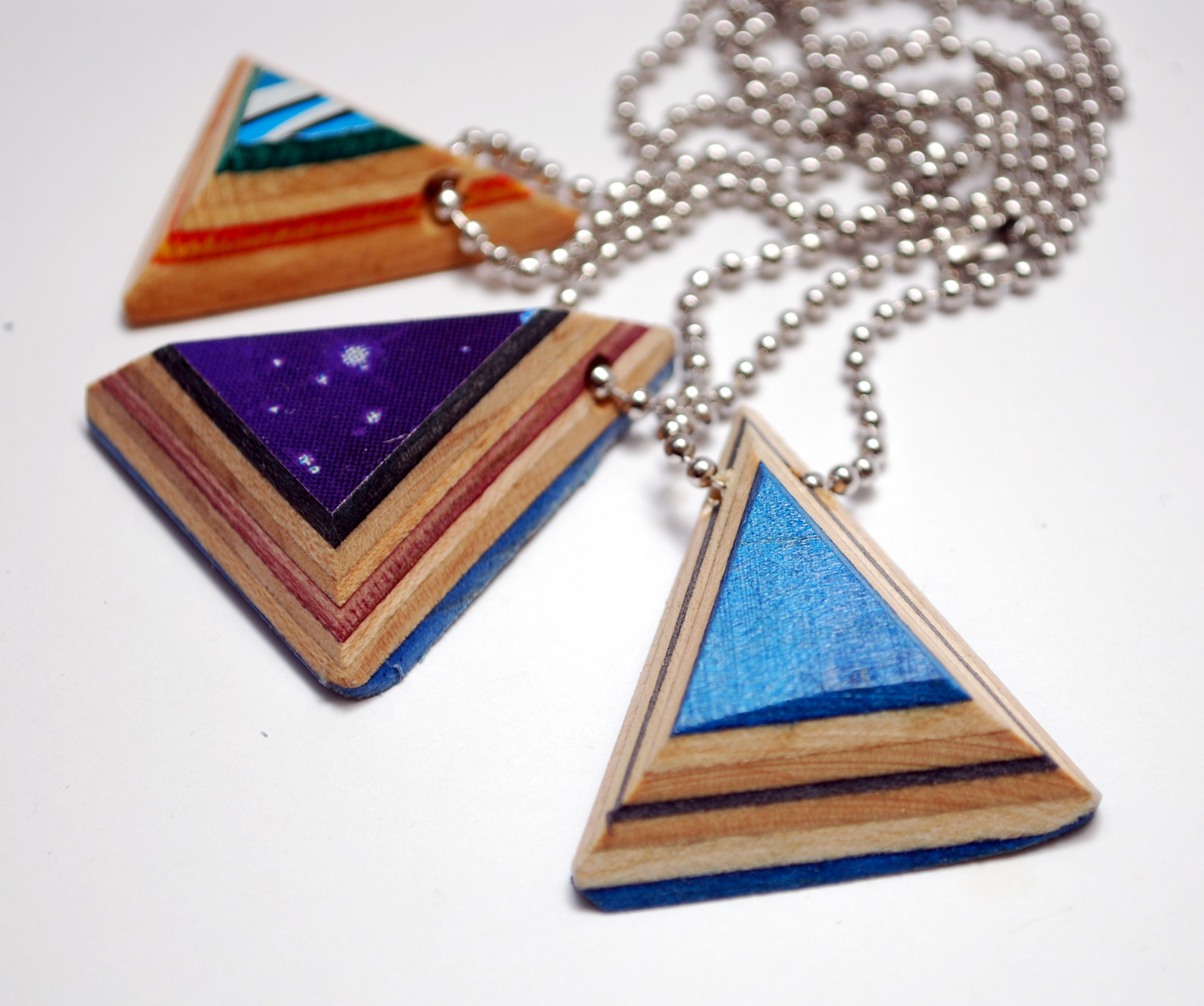 recycled skateboards, skater, gifts, skateboarding, repurposed, necklace, jewelry