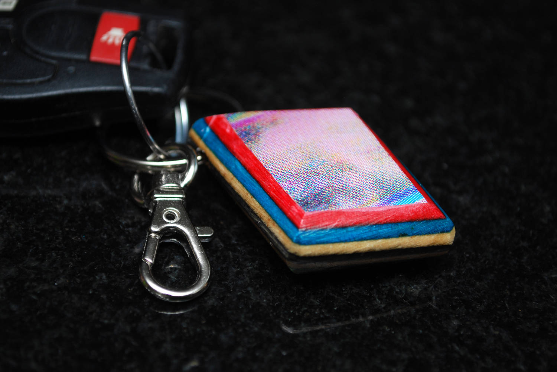 recycled, skateboard, jewelry, keychain, gift, cheap skateboards