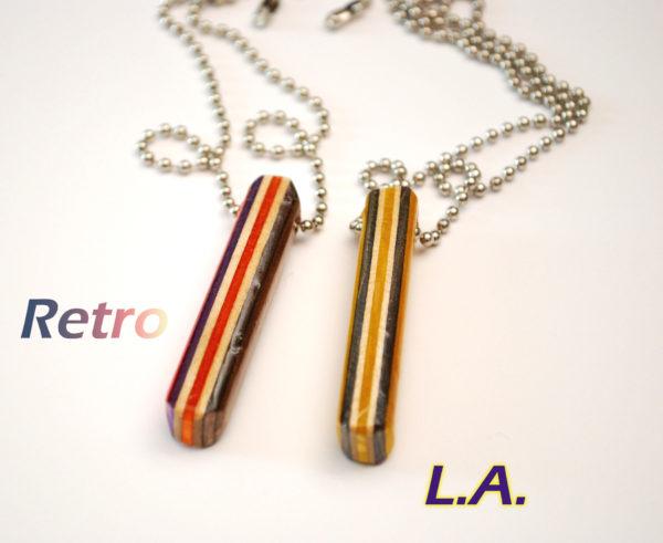 la, necklace, retro, skateboard, los angeles
