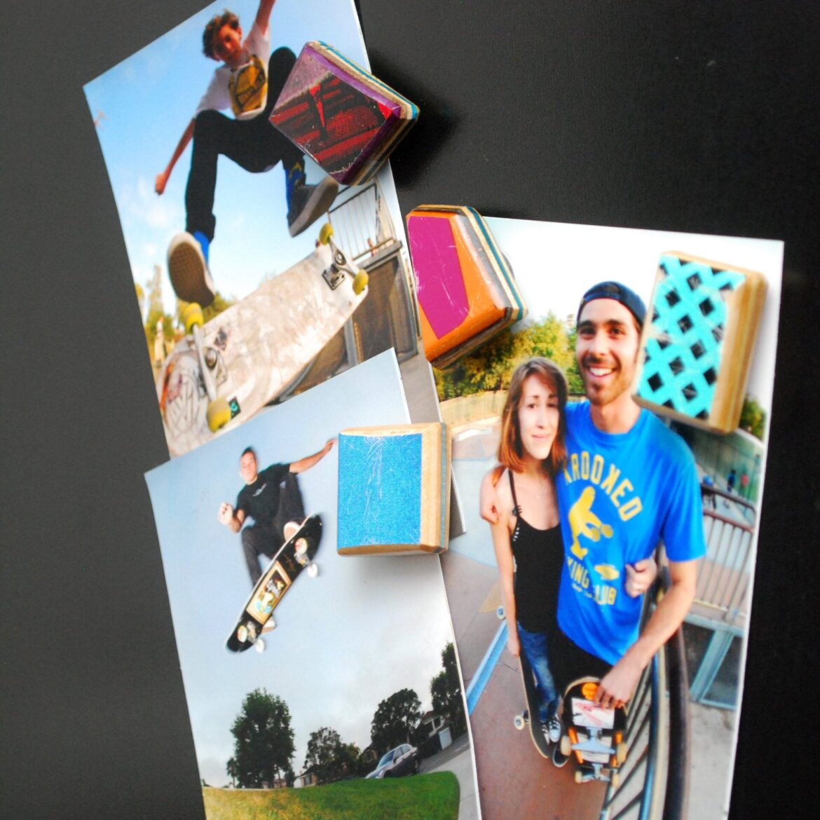 recycled skate deck, magnet