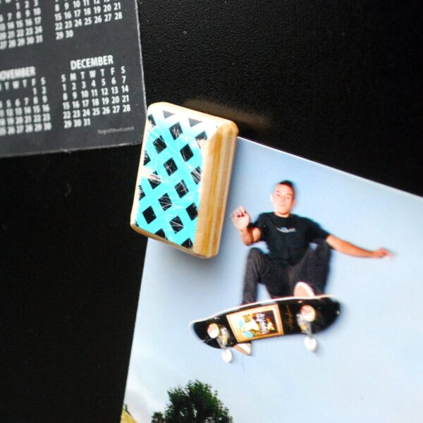 recycled skateboard, gift, magnets