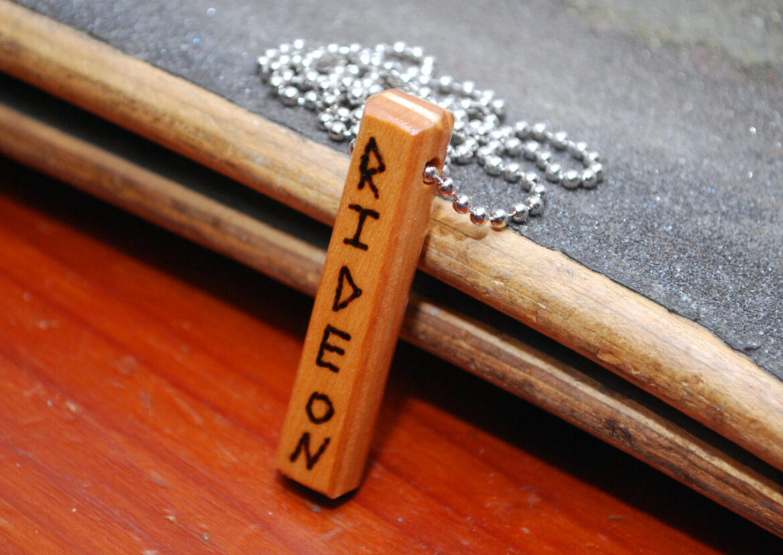 recycled skateboards, necklace, gift, skater