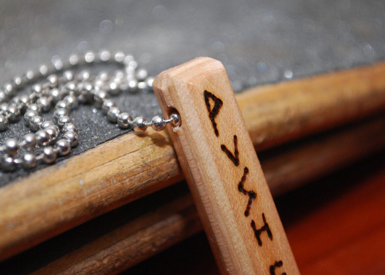 wood, burned, necklace, pendant, skateboard