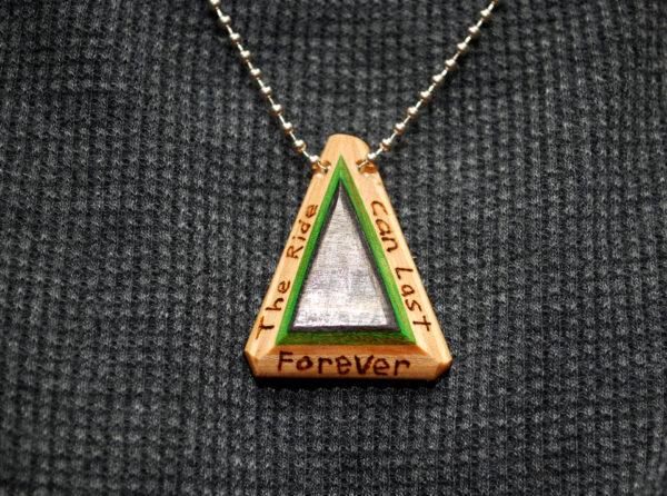 repurposed, skateboards, jewelry, necklace