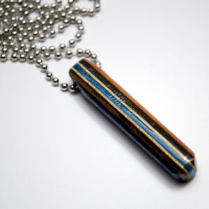 striped necklace, mens, jewelry, recycled