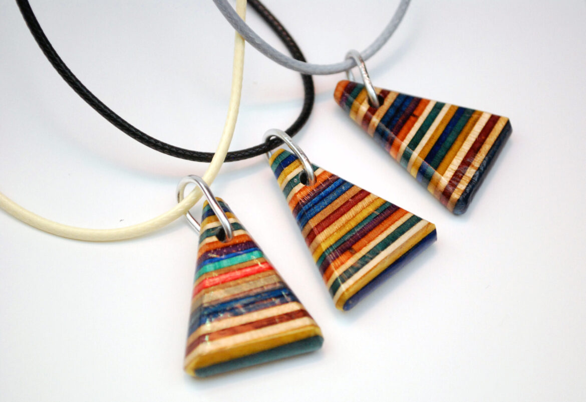rainbow necklaces, jewelry, triangle, colorful