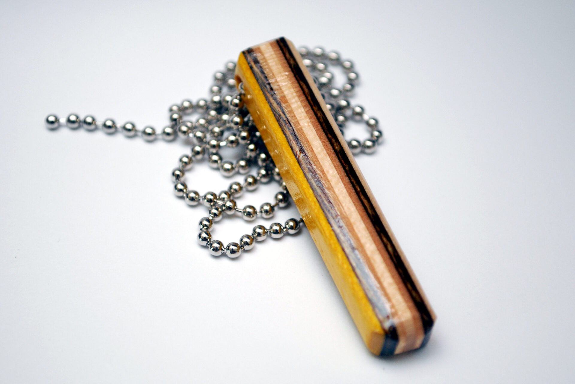 used skateboards, recycled, skate, necklace, jewelry